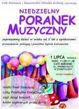 Poranek muzyczny dla dzieci - plakat